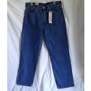 Levis 550 Mens Relaxed Fit Blue Jeans W34 L30 NWT